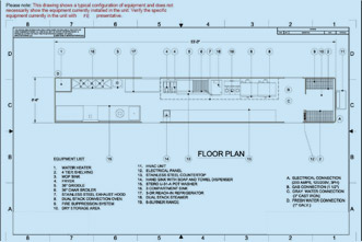 Commercial kitchen design plan