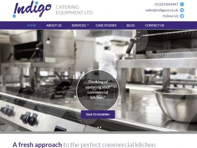indigo catering website