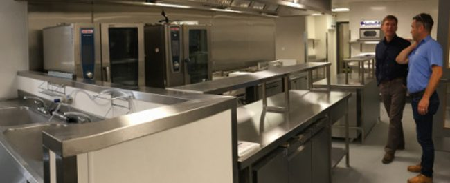 fully refurbished commercial kitchen