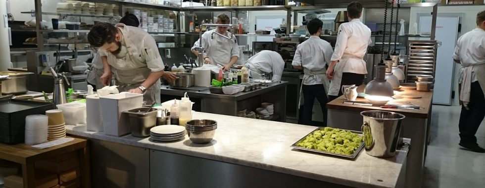 busy commercial kitchen